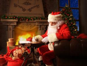 Weihnachtsmann schreibt Brief